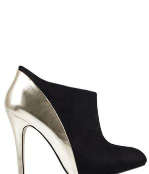 3552dfff959a Černé kotníčkové boty na podpatku Timeless Paltiel
